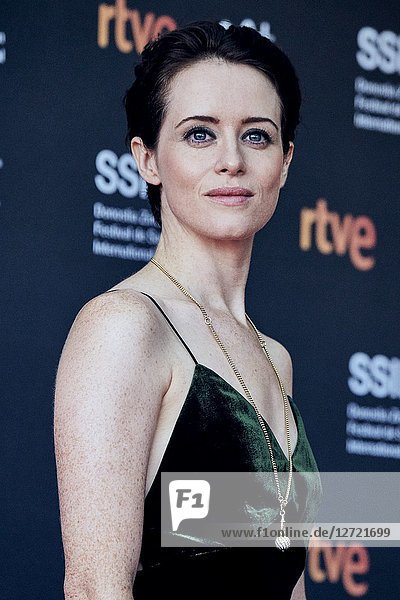 Claire Foy attended 'First Man' Premiere during the 66th San Sebastian International Film Festival at Victoria Eugenia Theater on September 24  2018 in San Sebastian  Spain
