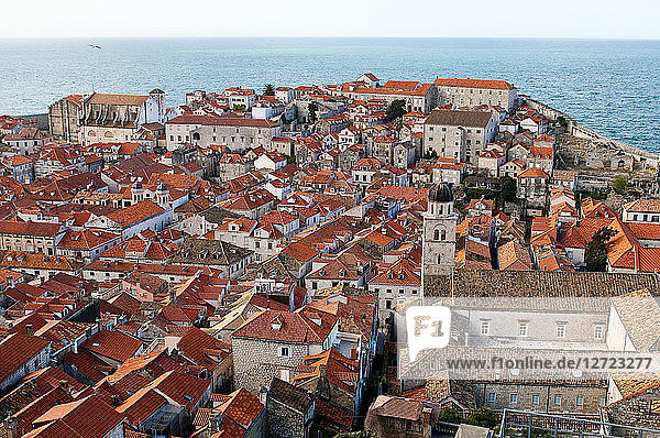 Europe  Croatia  Dubrovnik Neretva shire  Dalmatian coast  Dubrovnik  the old town