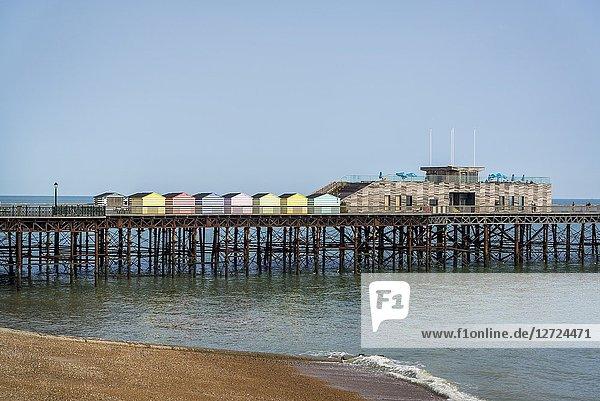 Refurbished Hastings Pier opened in 2016  Hastings  East Sussex  England  UK.