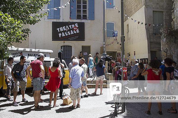 France  Vaucluse  Avignon  2015 theatre festival  show entrance