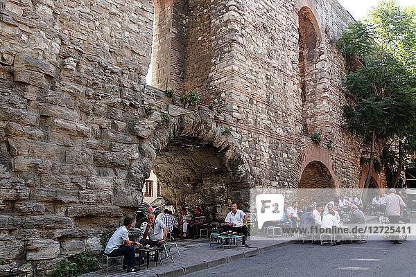 Turkey  Istanbul (municipality of Fatih)  quarter of Zeyrek  aqueduct of Valens (Bozdogan kemeri)
