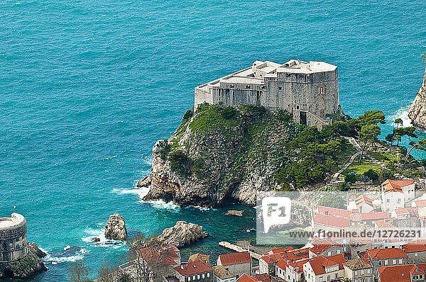 Europe  Croatia  Dubrovnik Neretva shire  Dalmatian coast  Dubrovnik  the old town  the Lovrijenac Fort