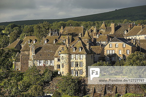 France  Center France  Salers  one of the most beautiful villages of France