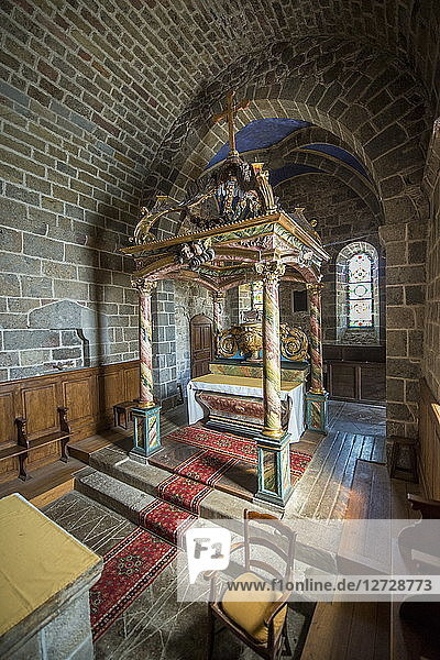 France  South-Western France  Cantal  Salers  Romanesque Church of Tournemire