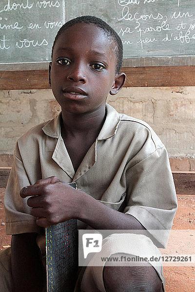 Portrait of a schoolboy Benin. Ouidah. Benin.