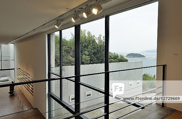 Japan  Naoshima island  Museum of Modern Art of the Benesse House  by the architect Tadao Ando