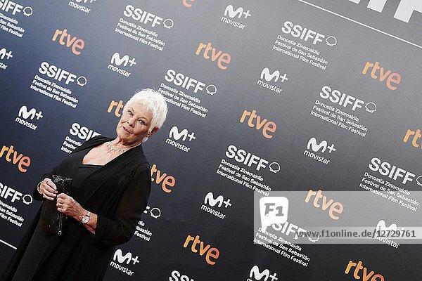 Judi Dench attended 'Red Joan' Premiere during the 66th San Sebastian International Film Festival at Kursaal Palace on September 25  2018 in San Sebastian  Spain