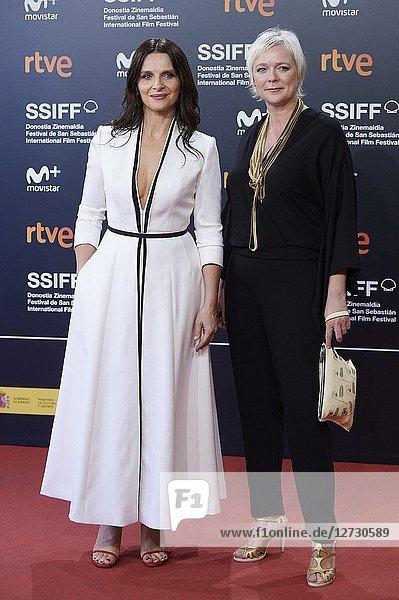 Juliette Binoche attended 'Vision' Premiere during the 66th San Sebastian International Film Festival at Kursaal Palace on September 26  2018 in San Sebastian  Spain