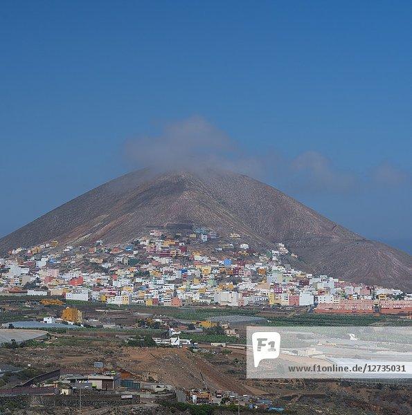 Volcano  Galdar village  Gran Canaria Island  The Canary Islands  Spain  Europe.