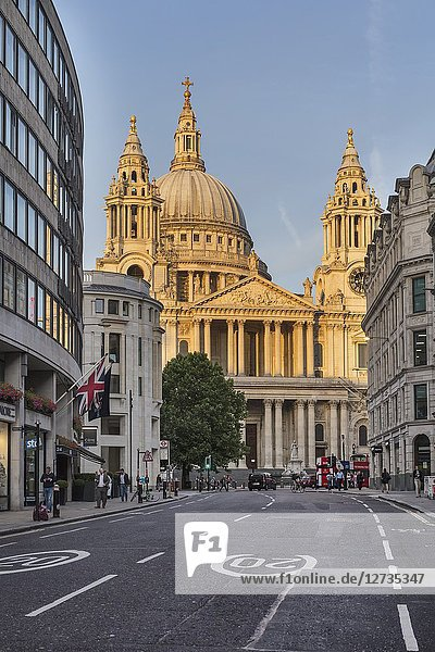 St Paul's Cathedral  Ludgate hill  London  England  UK.