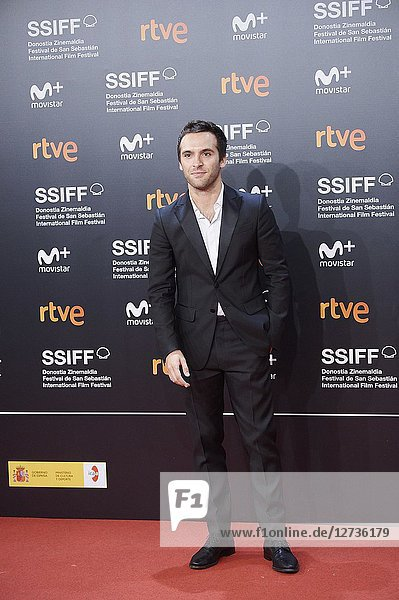 Ricardo Gomez attended 'El amor menos pensado' Premiere during the 66th San Sebastian International Film Festival at Kursaal Palace on September 21  2018 in San Sebastian  Spain