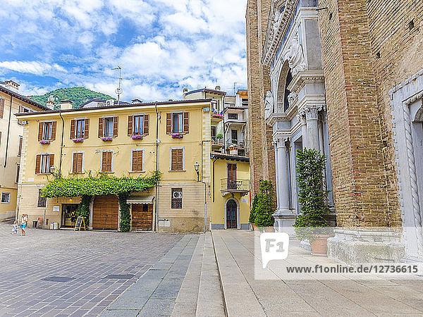 Italy  Lombardy  Salo  church square