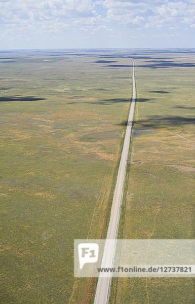 USA,  Aerial photograph of Highway 59 south of Grover,  Colorado