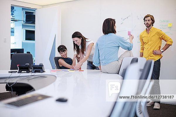 Business people having a meeting in office  brainstorming