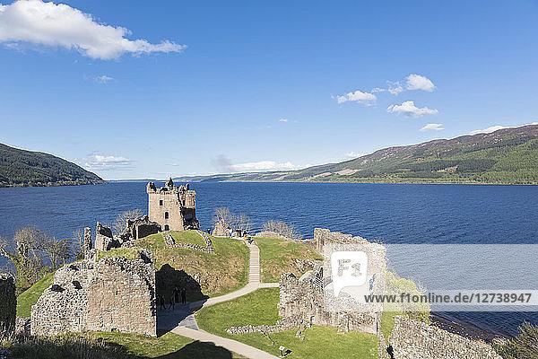 UK  Scotland  Loch Ness  Drumnadrochit  Urquhart Castle