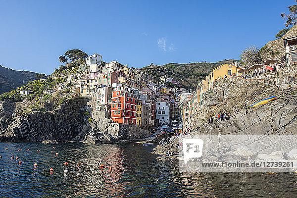 Italy  Liguria  La Spezia  Cinque Terre National Park  Riomaggiore