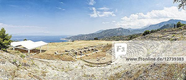 Greece  Peloponnese  Egira  Amphitheatre of Aigeira