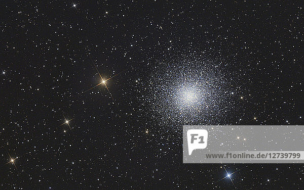 Astrophotography  globular cluster Messier 13 or Hercules Cluster