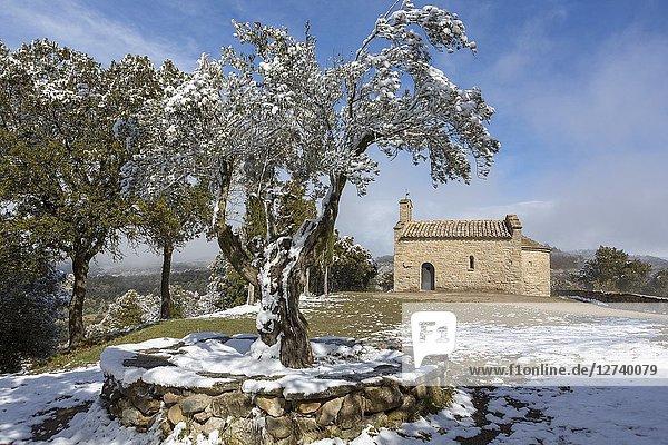 Romanesque heritage of Sant Martí Xic. Masies de Voltregà  Osona  Catalunya  Spain.