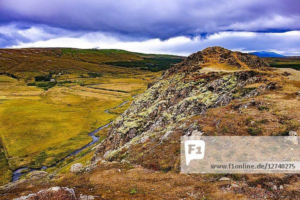 Haukadalur Valley  Southwest Iceland.
