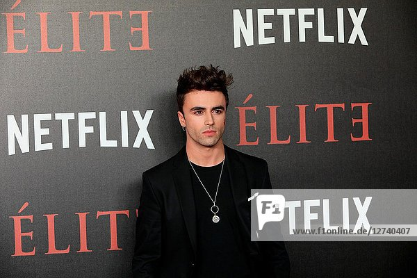 Actor ITZAN ESCAMILLA attends 'Elite' premiere at Reina Sofia Museum. Premiere of the Élite series  which premieres Netflix -it is its second Spanish original series- this Friday  October 5  was directed by Ramón Salazar and Dani de la Orden on Oct 2  2018 in Madrid  Spain