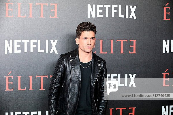 Spanish actor  JAIME LLORENTE. Premiere of the Élite series  which premieres Netflix -it is its second Spanish original series- this Friday  October 5  was directed by Ramón Salazar and Dani de la Orden on Oct 2  2018 in Madrid  Spain
