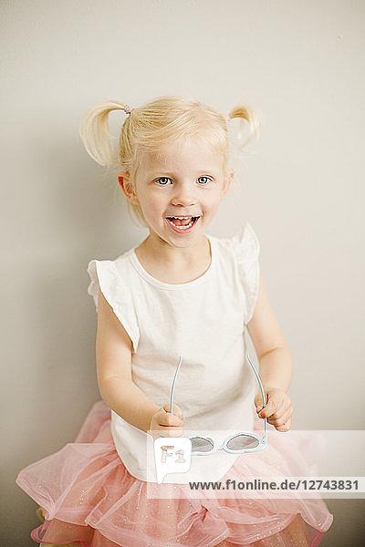Portrait of blond little girl