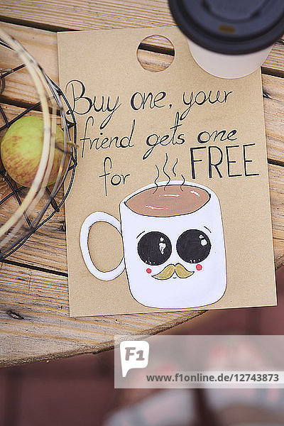 Street cafe  Coffee for free