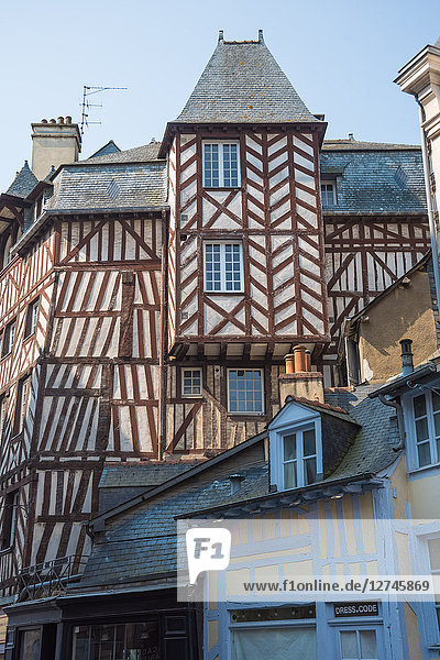 Altstadt  Rennes  Bretagne  Frankreich  Europa
