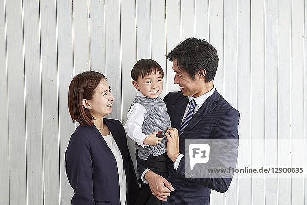 Japanese family studio photo shoot