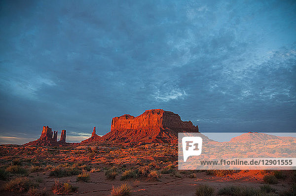 View of Monument Valley at sunrise  Utah  USA
