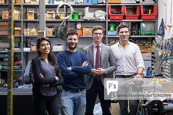 Portrait of colleagues in warehouse