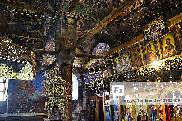 Albania  Qark Korca  Voskopoje  Kisha e Shen Kollit  St. Nicholas' Church  Icons and fresco paintings