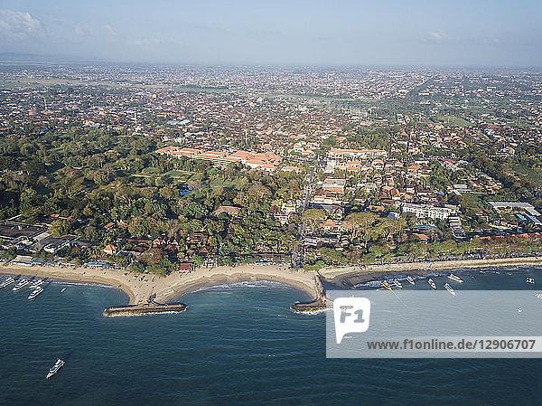 Indonesia  Bali  Aerial view of Sanur beach
