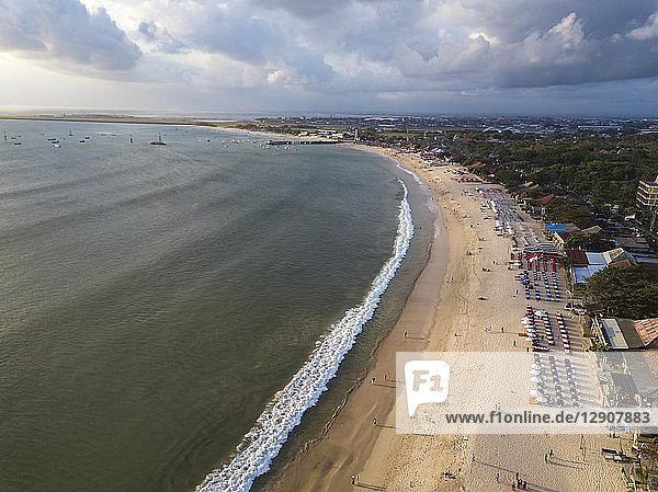 Indonesia  Bali  Aerial view of Jimbaran beach