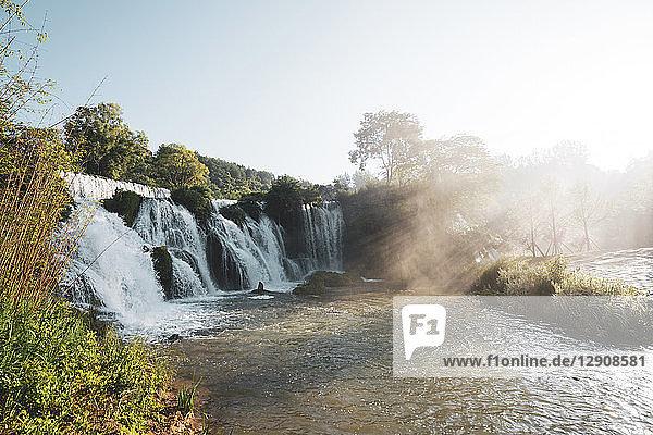 China  Guizhou  Tianhe Pool Park  waterfall