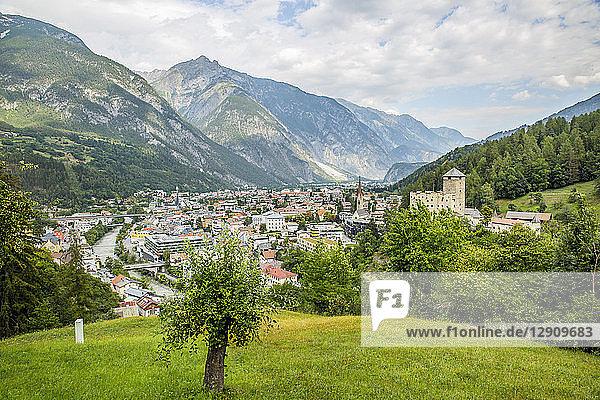 Austria  Tyrol  Landeck with Landeck Castle