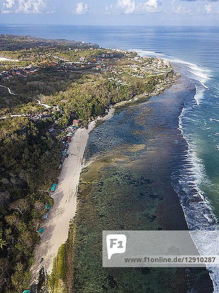 Indonesia  Bali  Padang  Aerial view of Thomas beach