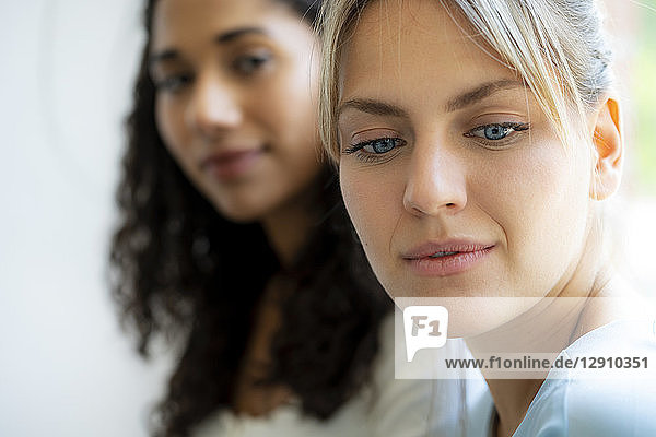 Portrait of two female freinds