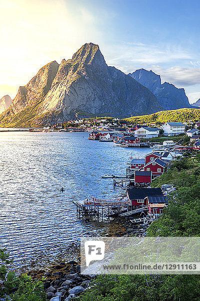 Norway  Lofoten Islands  Moskenesoy  Reine