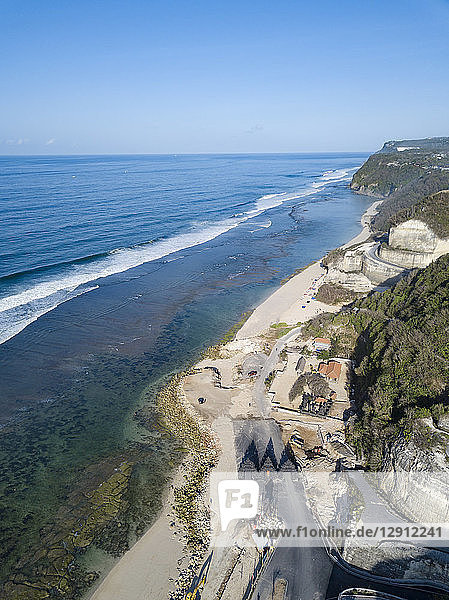 Indonesia  Bali  Aerial view of Melasti beach