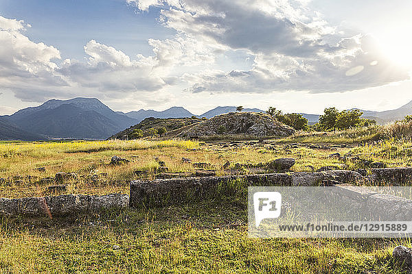 Greece  Peloponnese  Corinthia  Stymfalia  Ancient plateau  Lake Stymphalia