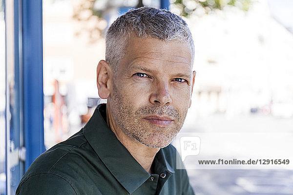 Portrait of a mature man outdoors