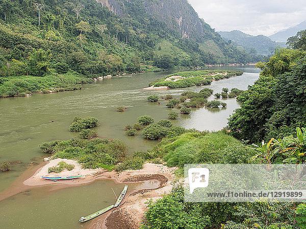Nam Ou River  Nong Khiaw  Laos  Indochina  Southeast Asia  Asia