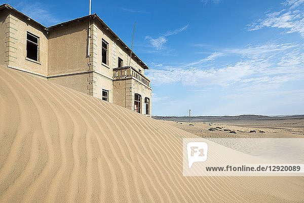 A building in the abandoned diamond mining ghost town of Kolmanskop  Namibia