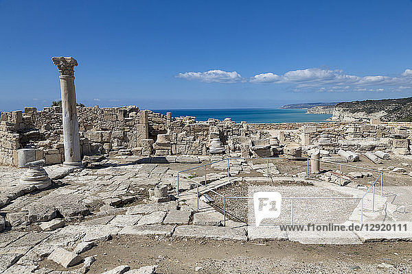 The Roman Nymphaeum in Kourion Archaeological Site in southern Cyprus  Mediterranean