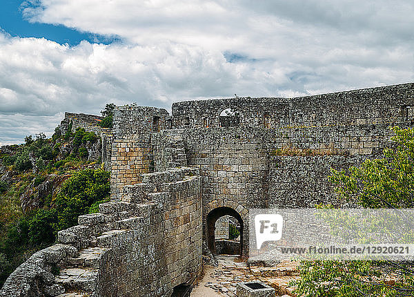 Sortelha  a historical mountain village  built within Medieval fortified walls  included in Portugal's Historical Village route  Sortelha  Portugal  Europe