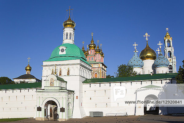 Holy Gate  The Holy Trinity Saint Sergius Lavra  UNESCO World Heritage Site  Sergiev Posad  Russia  Europe