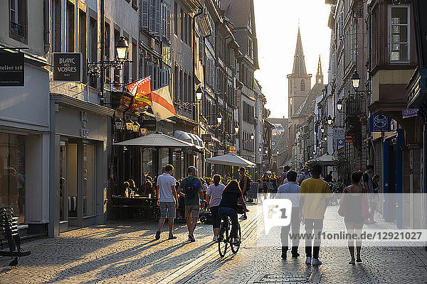 Grand Rue  Petite France  Strasbourg  Alsace  France  Europe