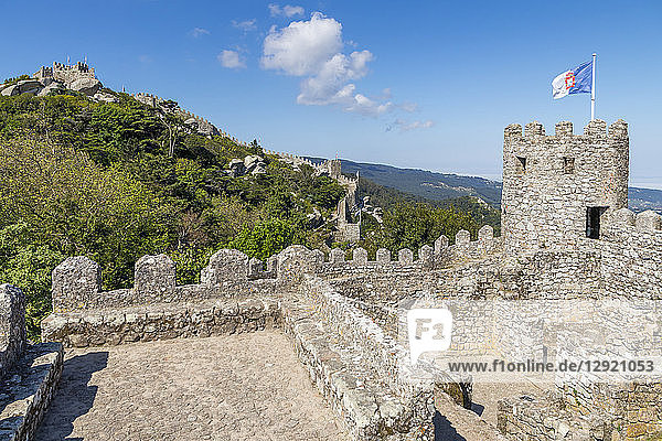 The Moorish Castle above Sintra  Portugal  Europe